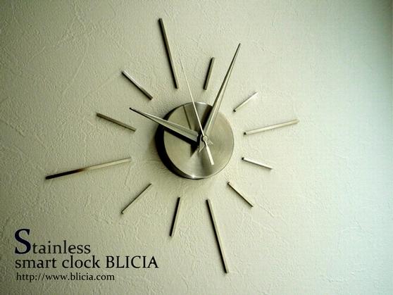 モダン壁掛け時計おしゃれな高級デザイナーズクロックBLICIA ST3画像