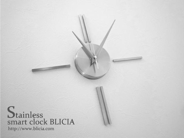 おしゃれ壁掛け時計ステンレスモダンデザイナーズシンプル