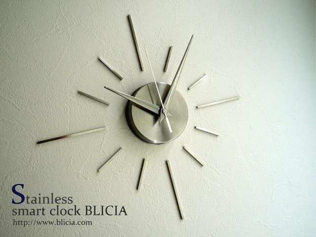 壁掛け時計おしゃれな高級ステンレスクロックBLICIAST3商品画像
