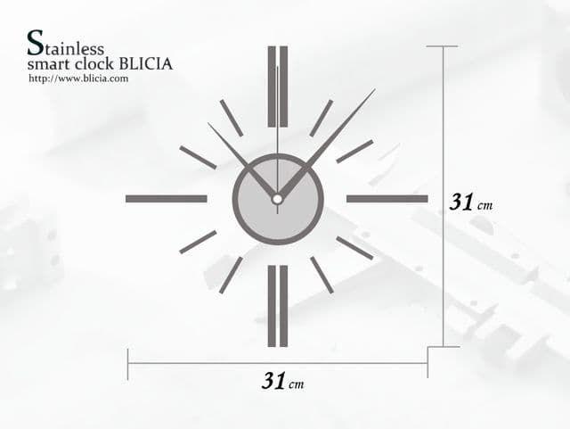 掛け時計 おしゃれ ステンレスBLICIA ST6 取り付け サイズ