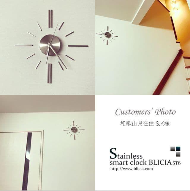 壁掛け時計 高級 デザイナーズ BLICIA ST6 お客様画像2
