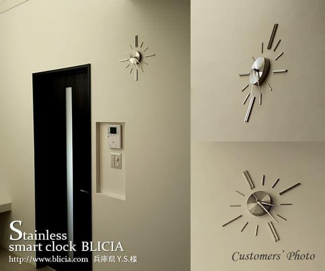 壁掛け時計 高級 デザイナーズ BLICIA ST6 お客様画像3