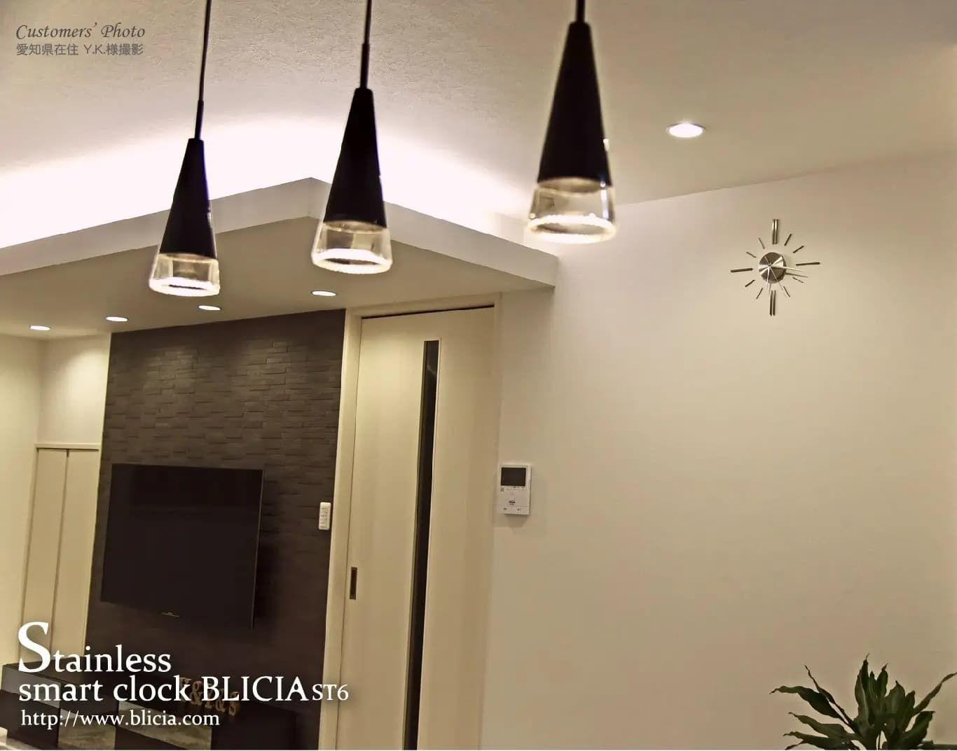壁掛け時計 高級 デザイナーズ BLICIA 画像1