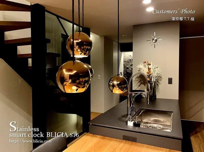 壁掛け時計 高級 デザイナーズ BLICIA 画像6
