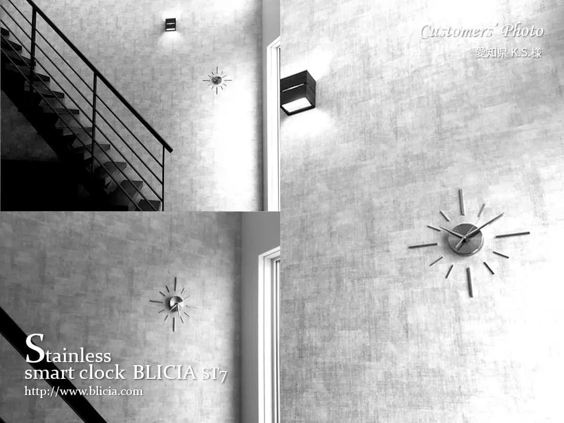 壁掛け時計 高級 デザイナーズ BLICIA 画像4