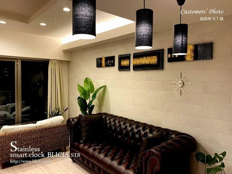 壁掛け時計 高級 デザイナーズ BLICIA 画像5