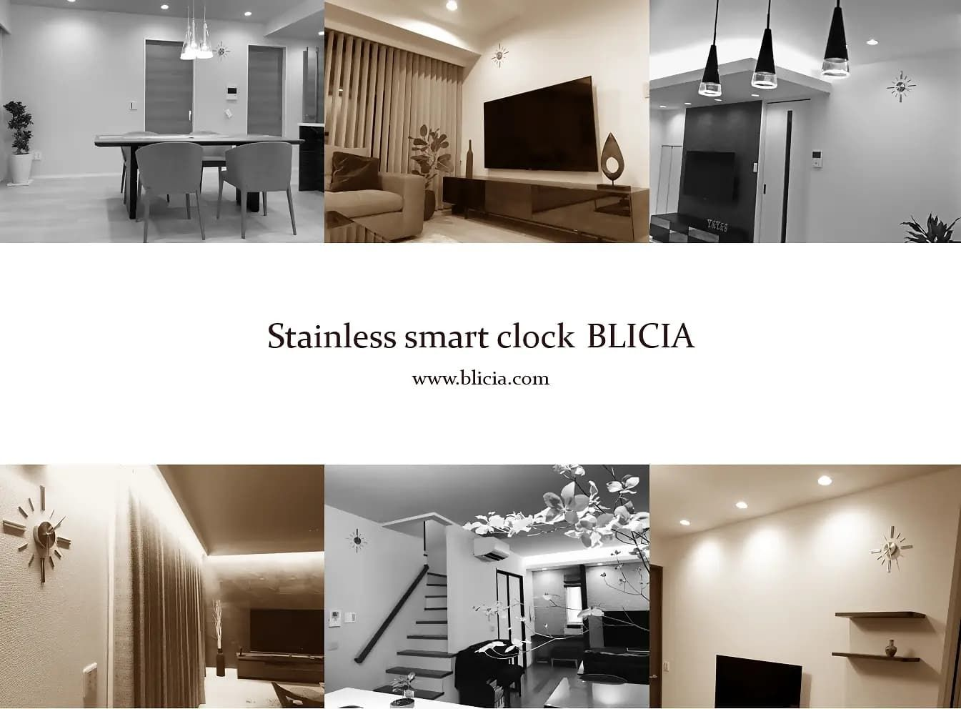 壁掛け時計 高級 デザイナーズ BLICIA 画像0